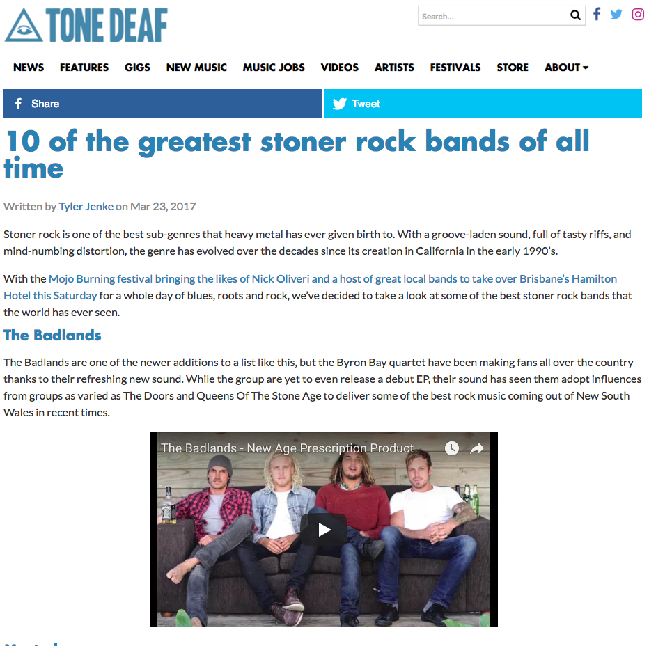 Tonedeaf Magazine, 2017