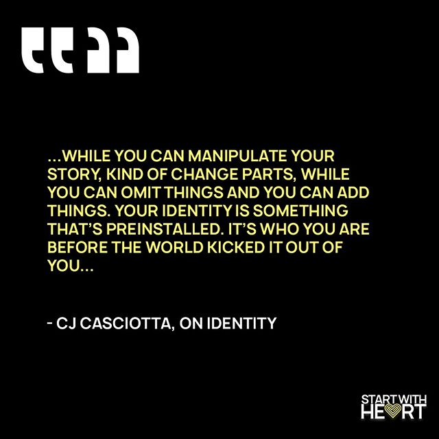 Identity Ninja -  @cjcas  If you didn't get a chance to see him speak at our leadership event, THREAD, check out our podcast with him.  We had a pretty great conversation.  Start with Heart can be found anywhere you get your podcasts. . . . . . . #startwithheart #heart #purpose #passion #weird #start #leadership #thread #identity #storytelling #podcast #nashvillepodcasters