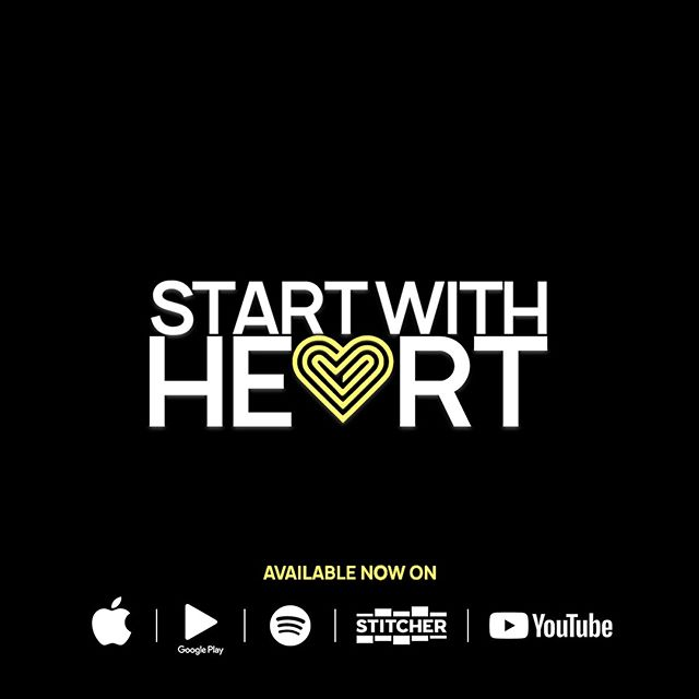 The perfect way to spend Valentine's Day... listening to a podcast called, START WITH HEART.  I mean, this was made for Valentine's Day. . . . Go check it out now! Available anywhere you get your podcasts and also on YouTube!  We