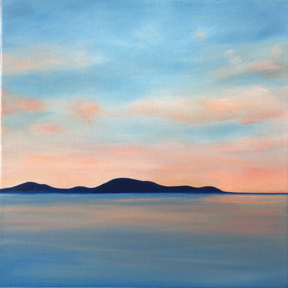 Sunset; oil on canvas SOLD Jill McDougall