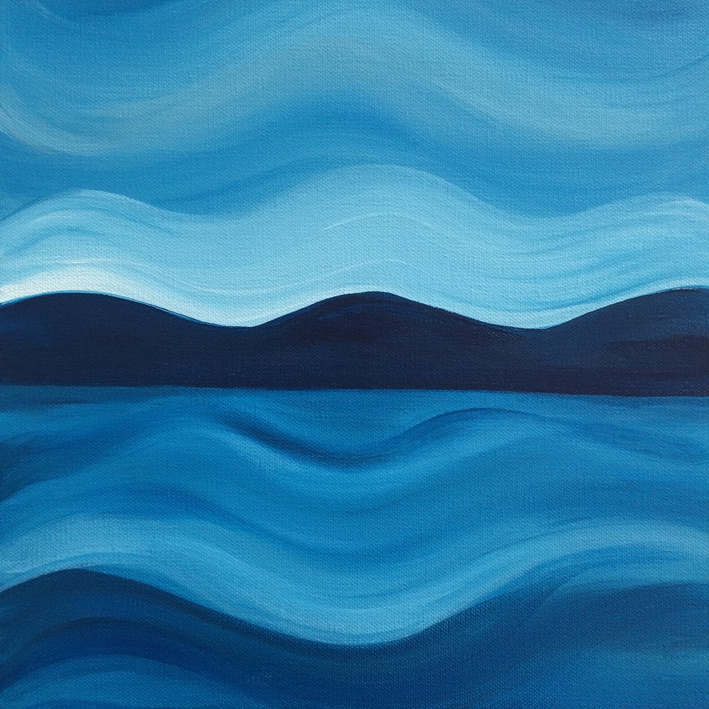 Symmetry II; acrylic on canvas SOLD  Jill McDougall