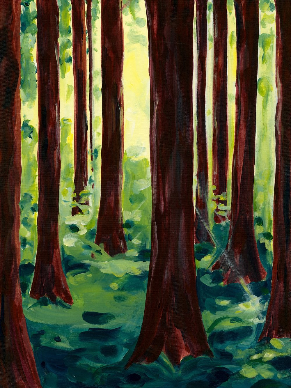 Cedar Forest; acrylic on canvas SOLD Jill McDougall