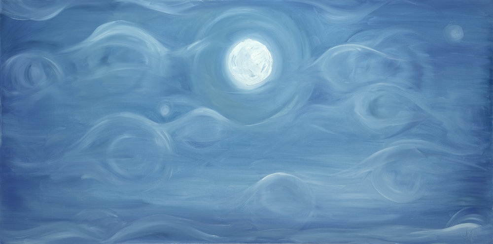 December Sky; oil on canvas  SOLD Jill McDougall