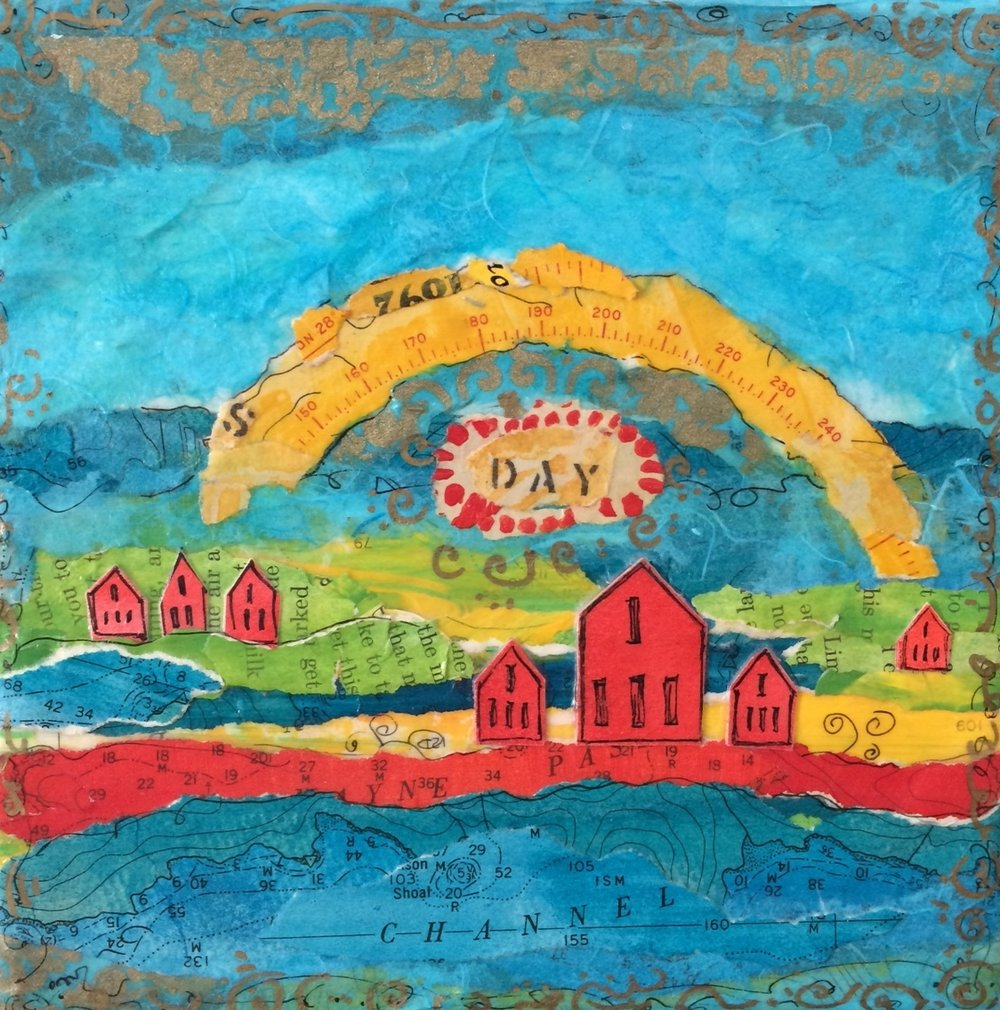 A New Day; mixed media on canvas SOLD Jill McDougall
