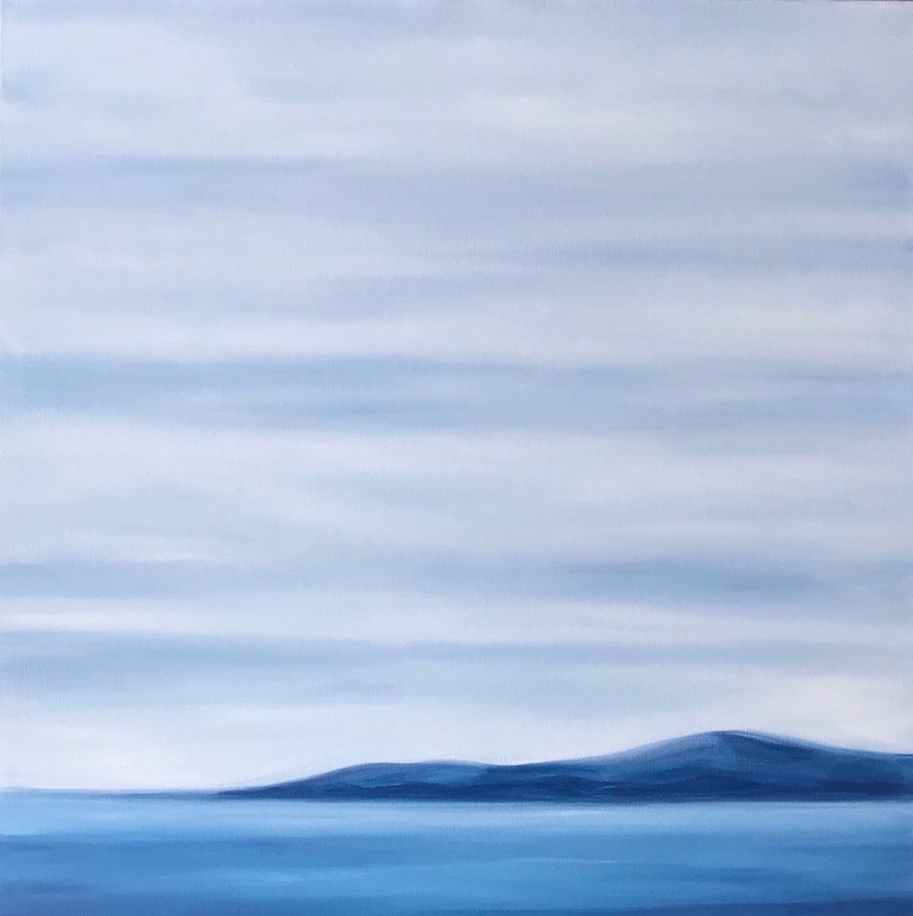 Marine Layers; oil on canvas; 24 x 24 Jill McDougall