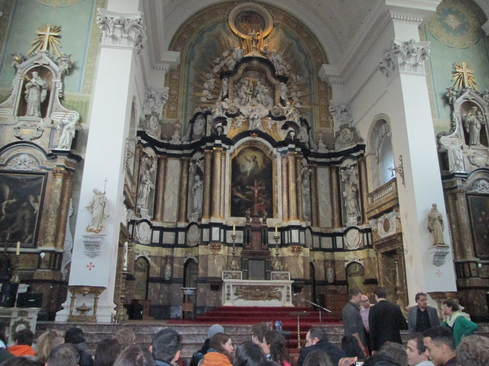 Beautiful church where welcoming activities took place.