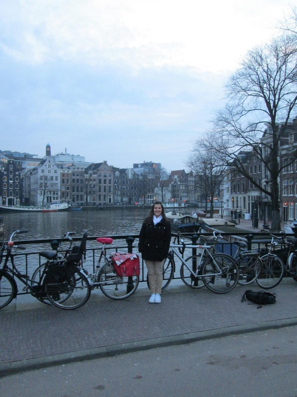 Amsterdam in the winter.