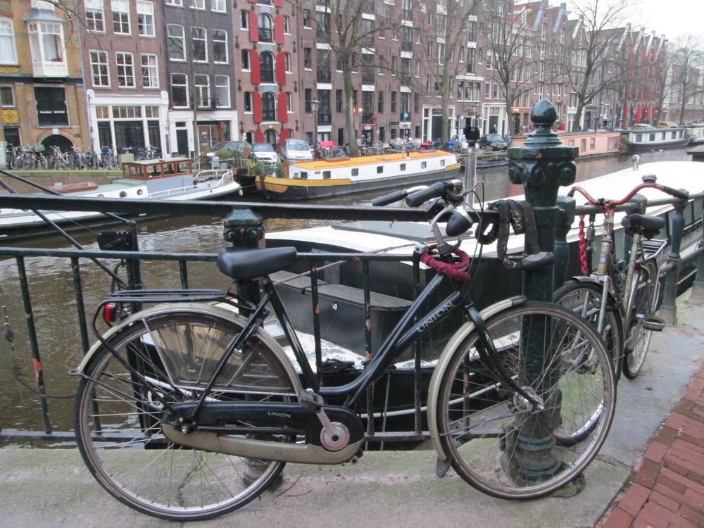 My beautiful (first) bike in Amsterdam.