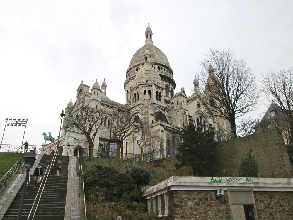 The Sacre Coeur de Montmartre