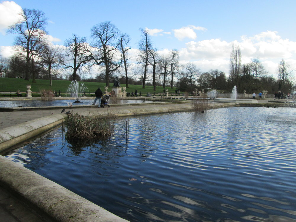 Italian Water Gardens. Did I mention we had blue skies both days?