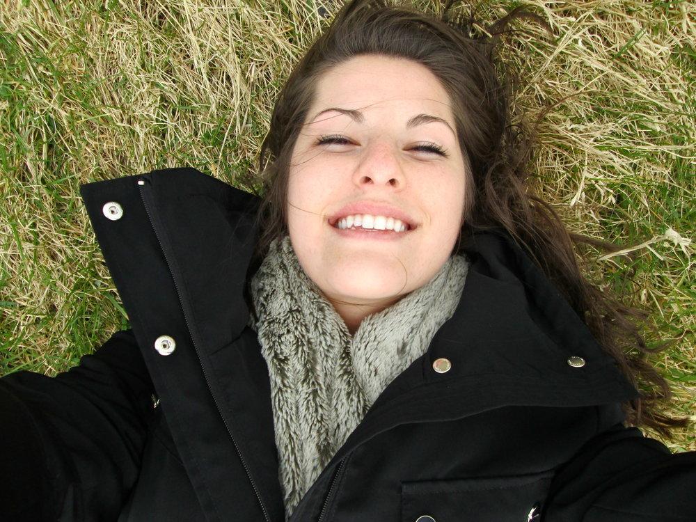 Selfie on world's cushiest grass