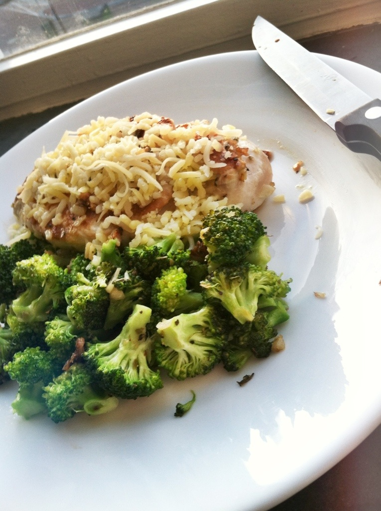 Cheesy Herbed Chicken Breast & Broccoli