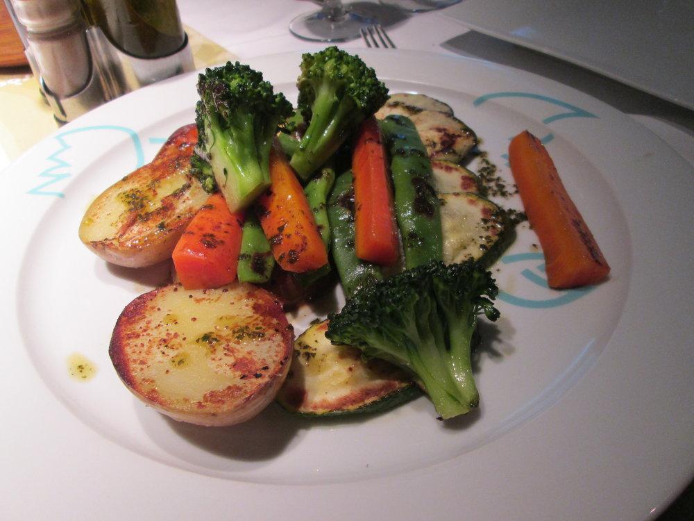 Amazing delicious veggies at dinner.