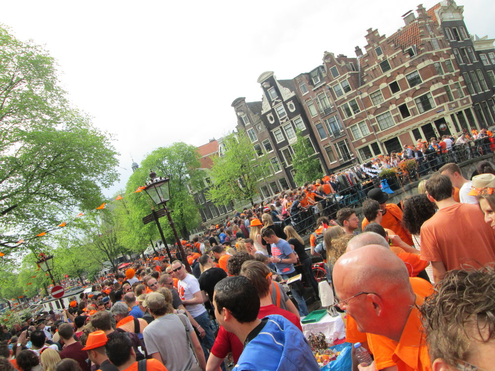 The streets on King's Day! Ps. Orange is the royal color.