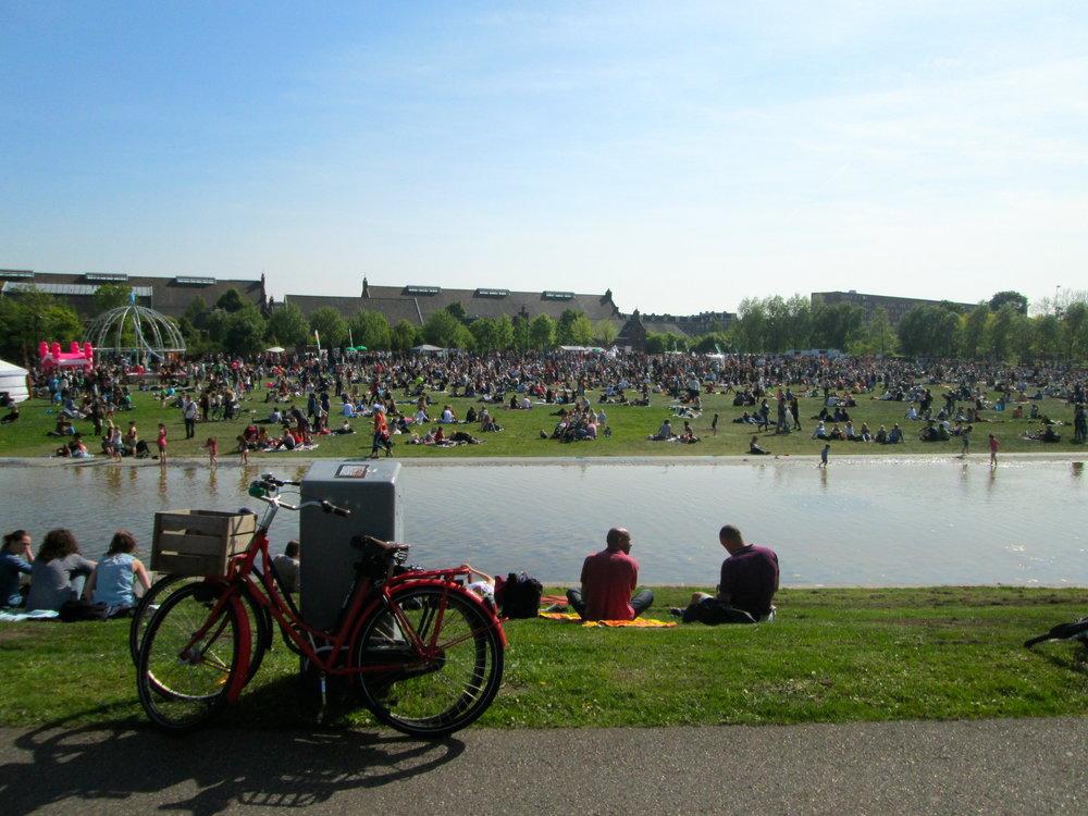Westerpark Lib Day Festival! Classic bike shot.