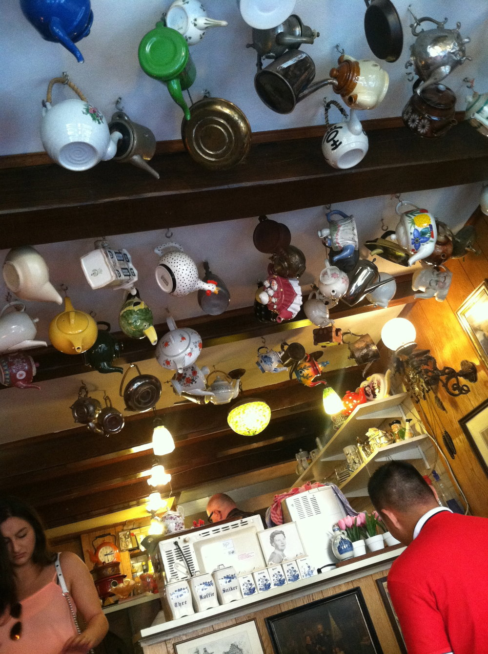 Teapot ceiling at Pancakes Upstairs!