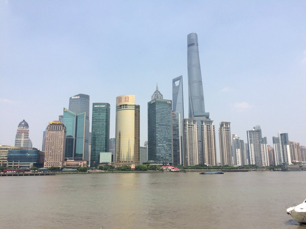 My favorite photo from the trip of Shanghai's Financial District.
