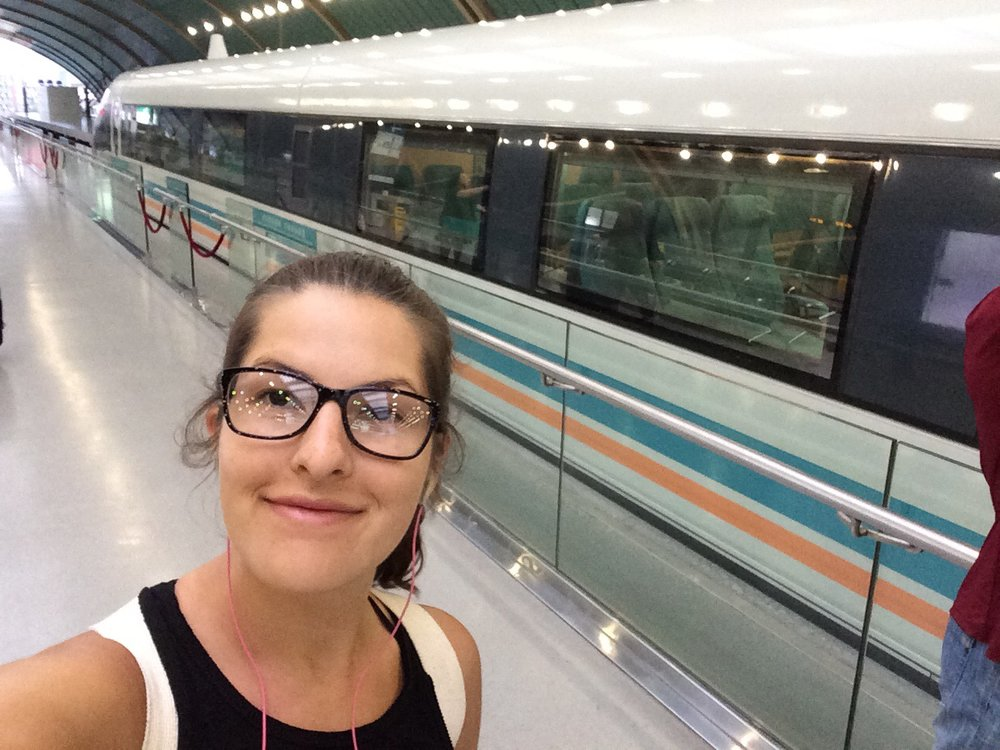 REALLY good photo of me next to the Maglev. This is what I get for not brining my selfie stick.