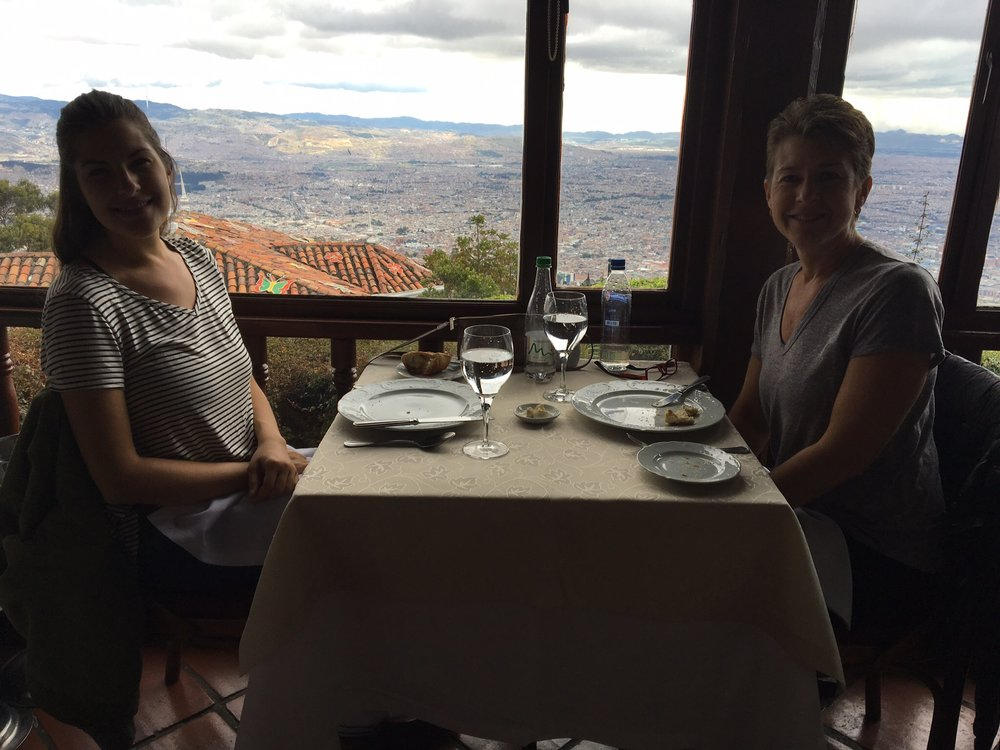 Our sit down lunch on top of the Monserrate.