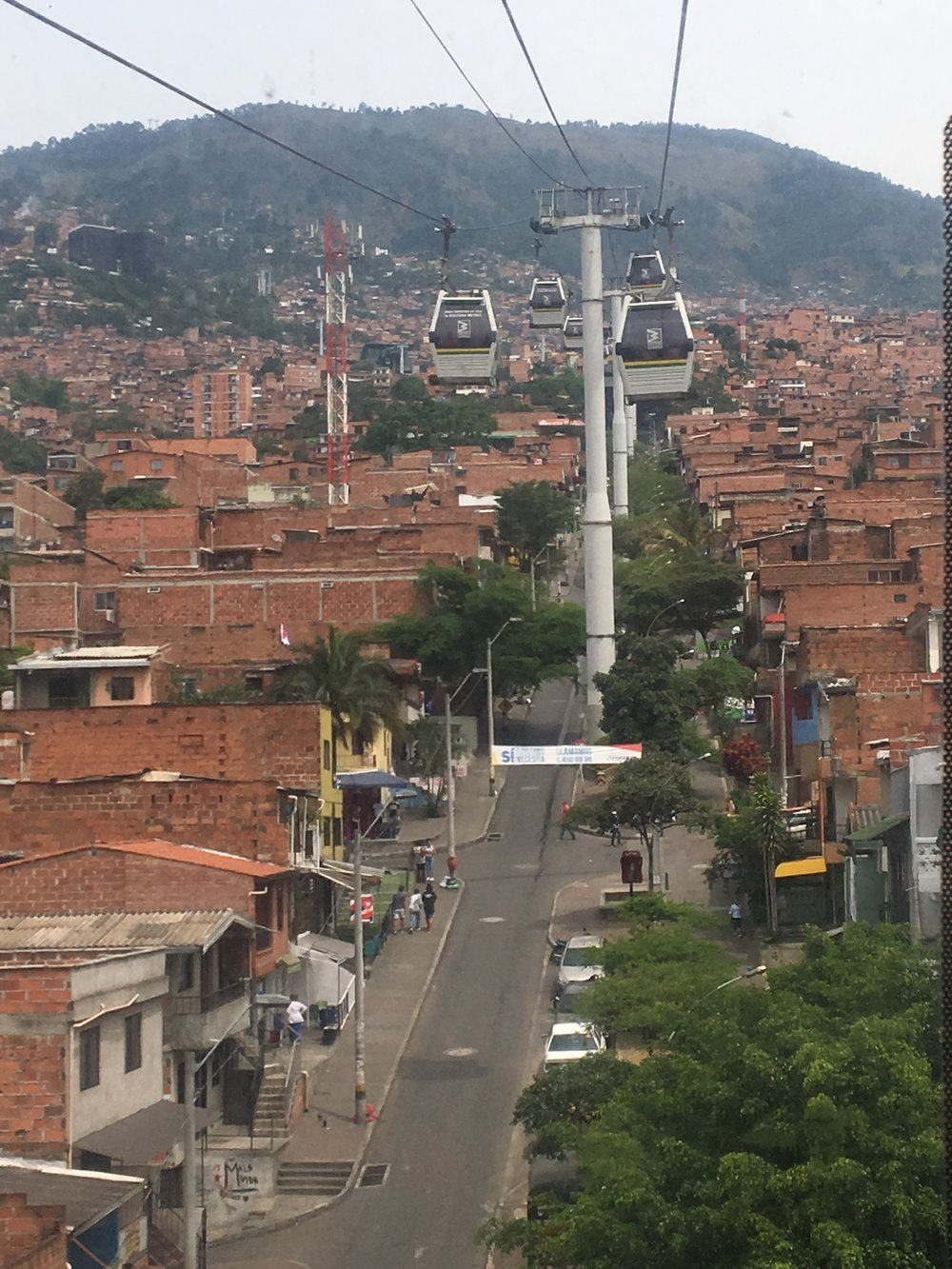 The beginning of the famous cable car ride up to Santo Domingo.