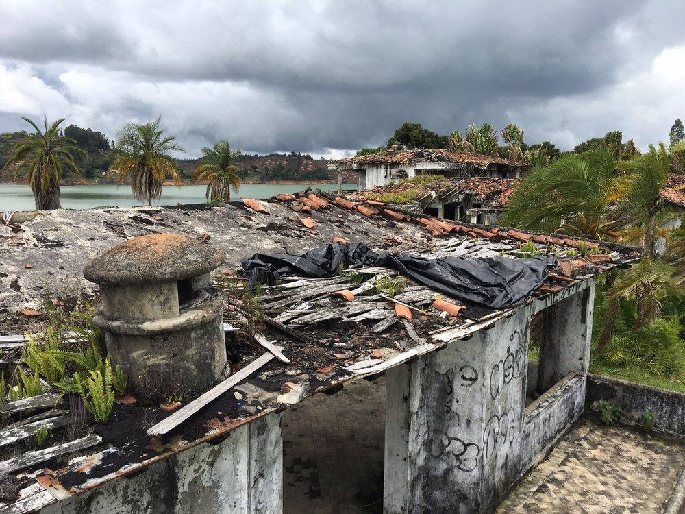 The ruins of Pablo Escobar's Guatape estate.