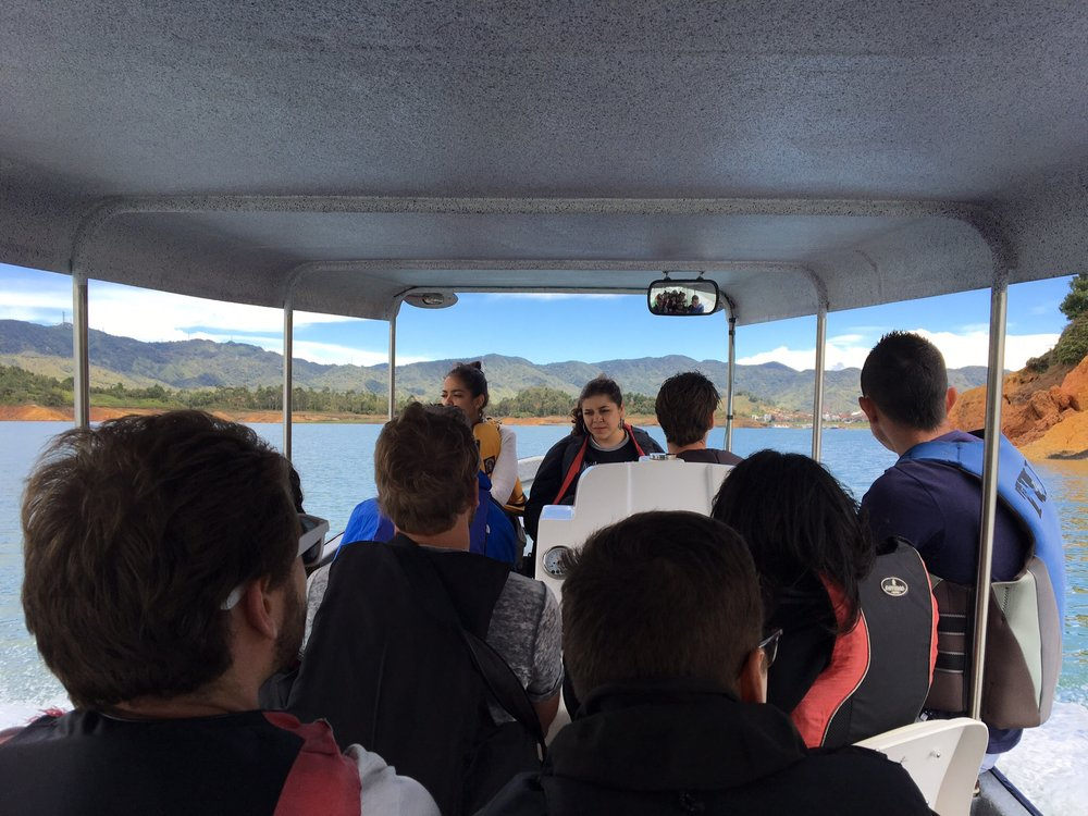 Beautiful blue view on our boat ride to Guatape.