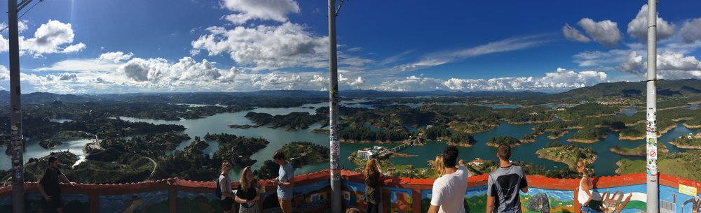 The view from the top of El Penon, a huge rock located just outside of Medellin.
