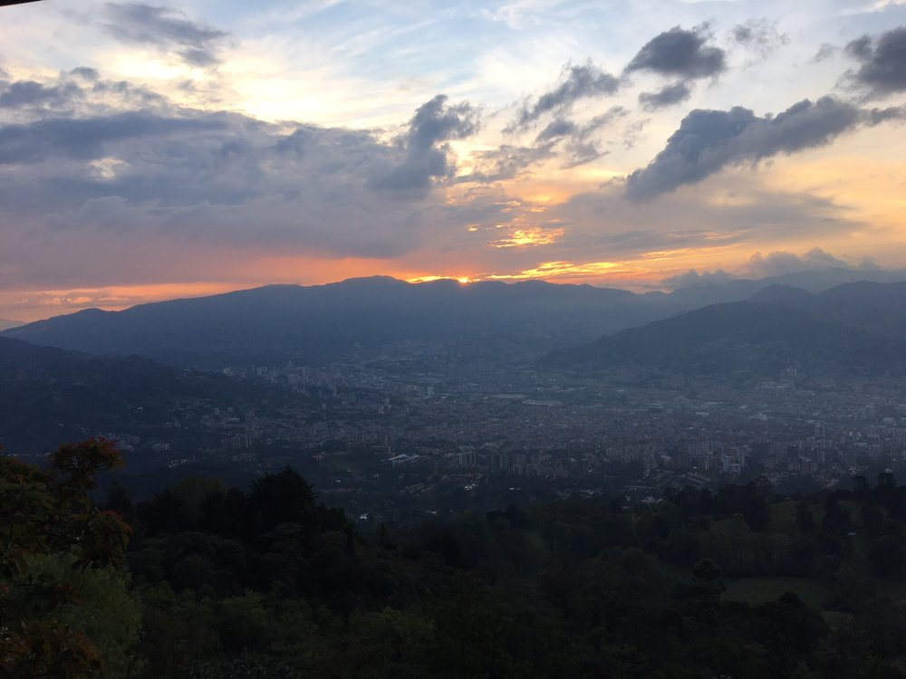 A photo that obviously doesnt do the Colombian sunset justice.
