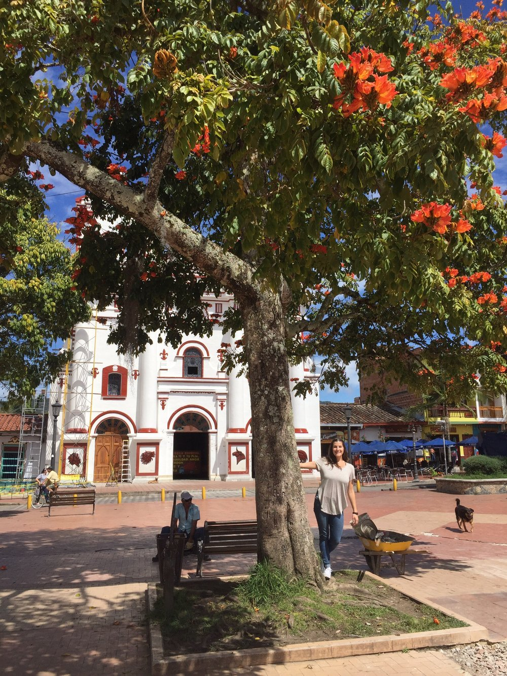 The town square at Guatape.