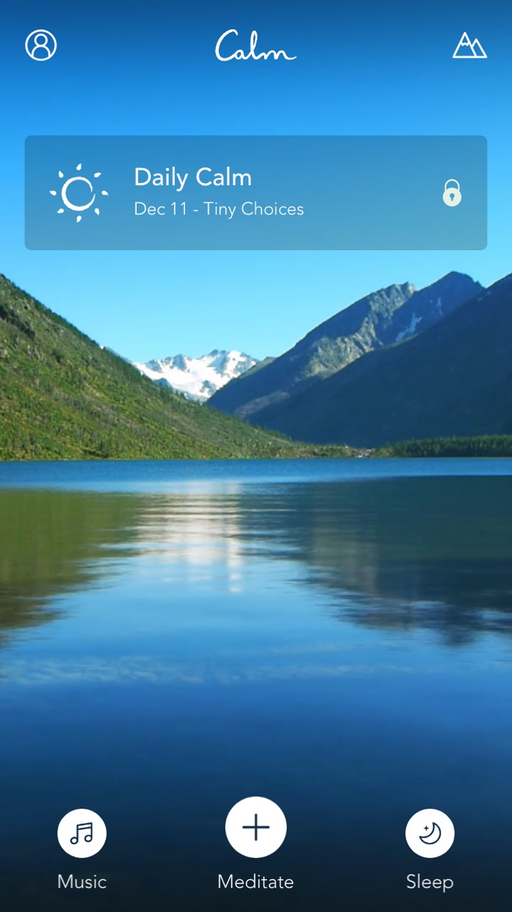 Calm App, one of my favorite meditation aids.