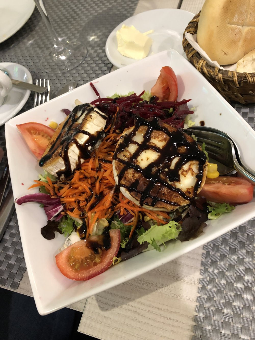 Incredible Goat Cheese Salad from Restaurante Calidade.