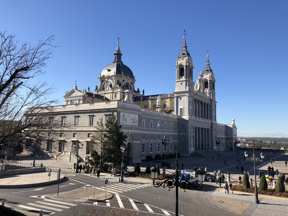 Madrid's Grand Cathedral, built over a 100 year period and using three distinct styles of architecture.