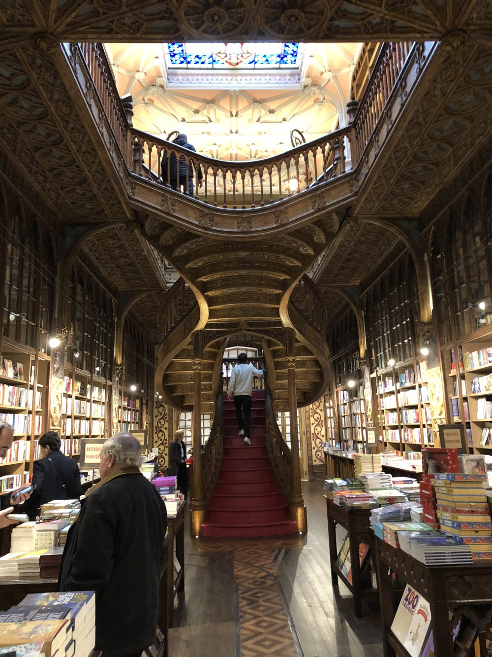 Walking into Lello Livraria.