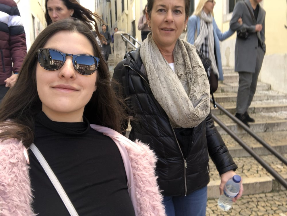 Action shot of Mom & I from our walking tour. I need to get better at posing for photos. Until then, it will be selfies.