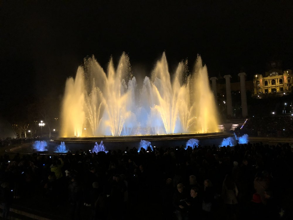 The Magic Fountains of Montjuic. The photo never does it justice.