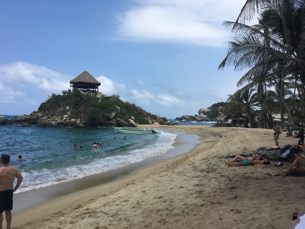 The picturesque El Cabo San Juan beach in Tayrona Park.