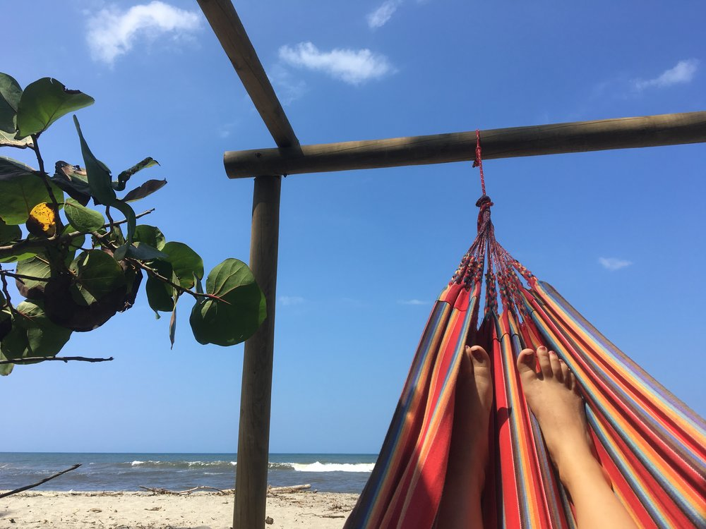 Favorite activity in Tayrona: napping in one of these bad boys.