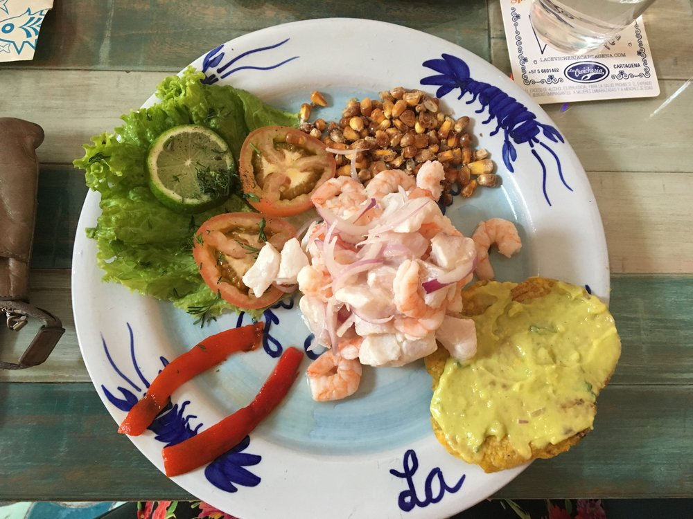 Famous fresh ceviche at La Cevicheria.