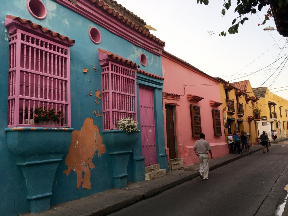 The romantic streets of Cartagena <3
