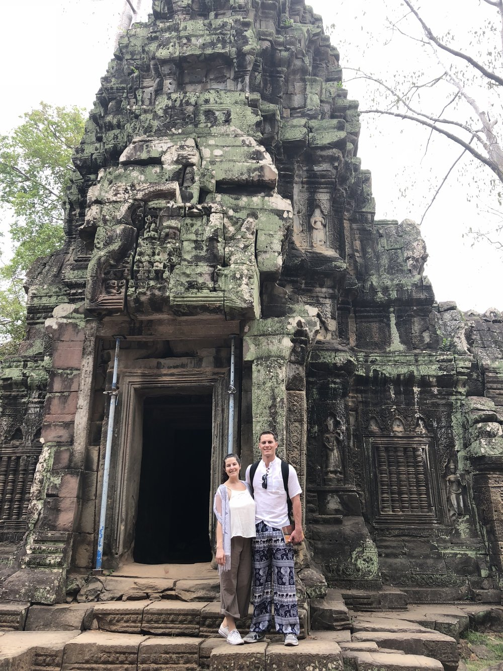 "Exploring the temples of Angkor Wat on the one-day ""short loop"" tour."