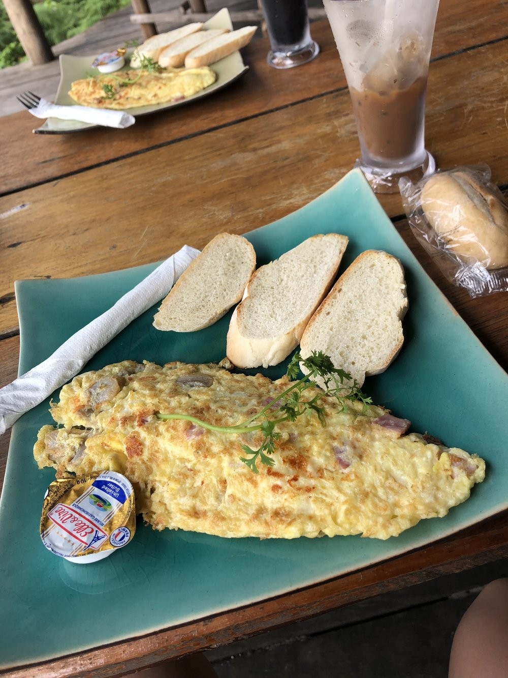 Breakfast omlette at the Mad Monkey - super tasty for being hostel food!