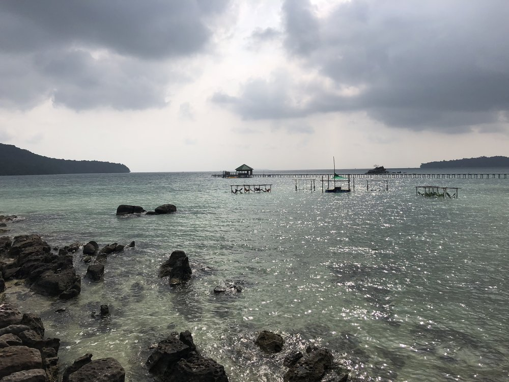 Looking at the ocean from Koh Rong Samloem.