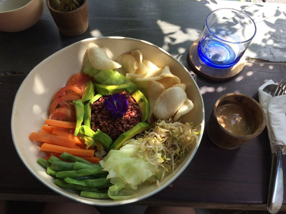 "The Thai peanut ""salad"" at Mudra, one of the most popular places on TripAdvisor in Ubud."