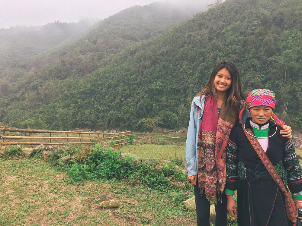 With my lovely homestay Mama in Sapa, Vietnam.