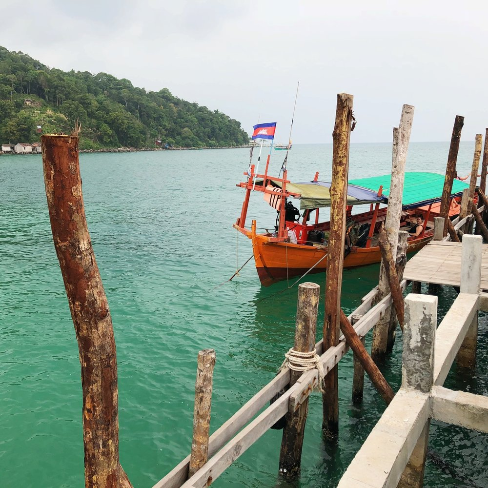 Traveling by boat to the Koh Rong islands in Cambodia