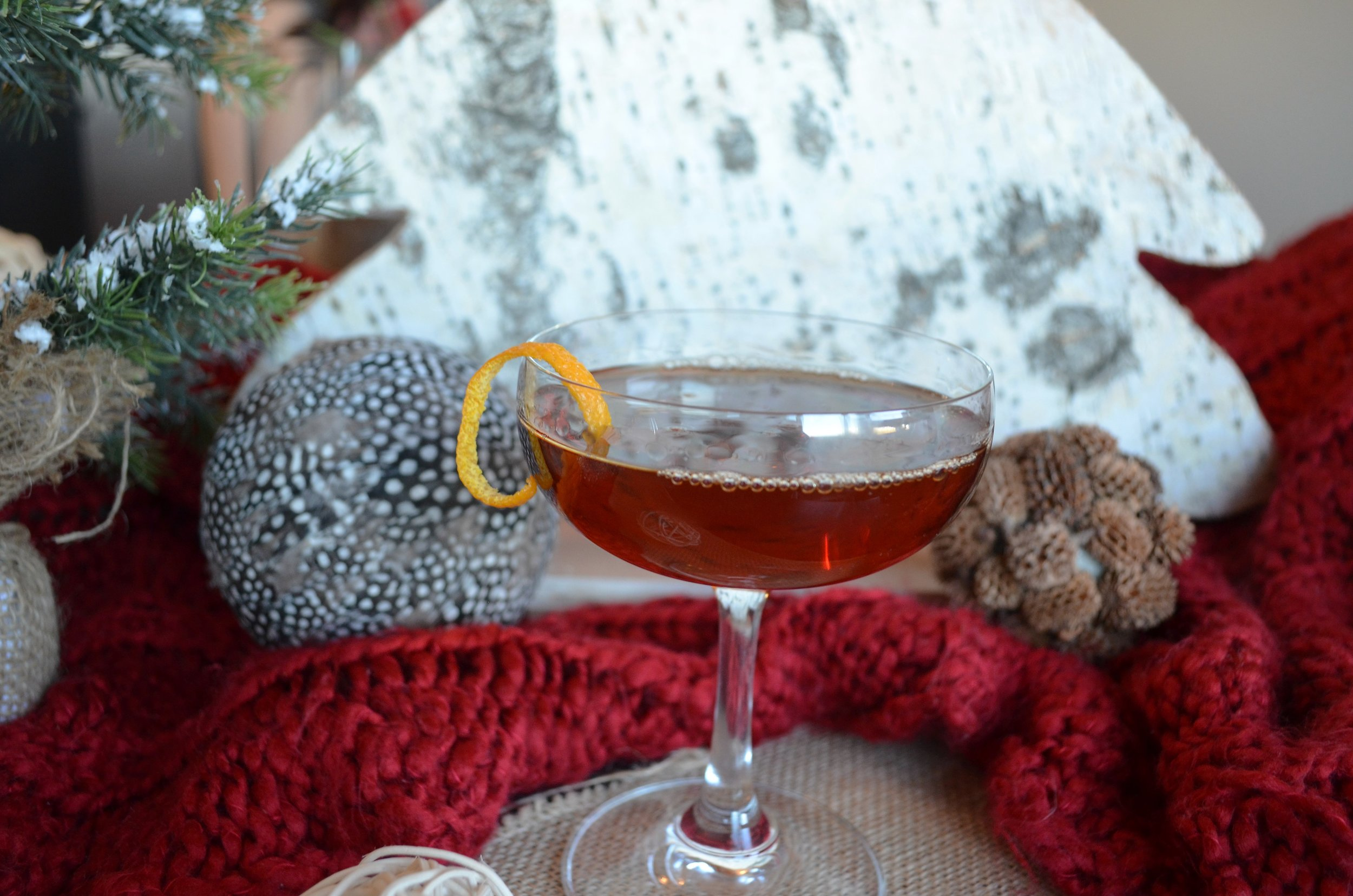 holiday-inspired bourbon cocktails