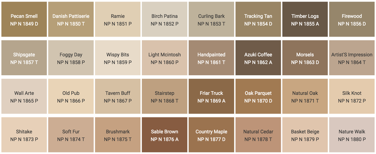 Color Chart Nippon Paint