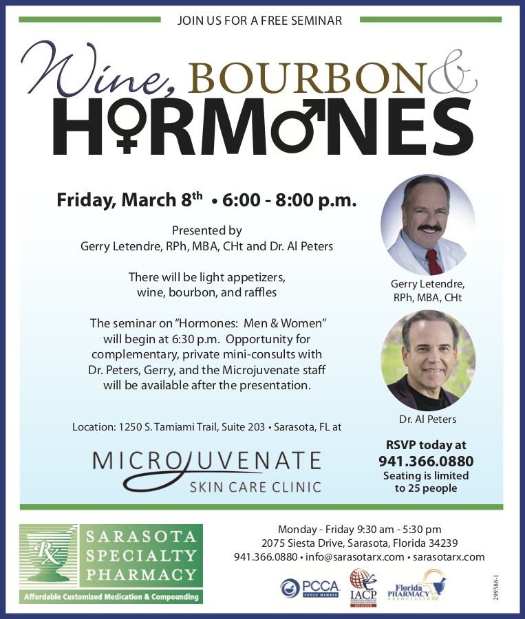 """Hormones: Men & Women…"" - If you are in the area, join us for a fun and an informational evening event at"