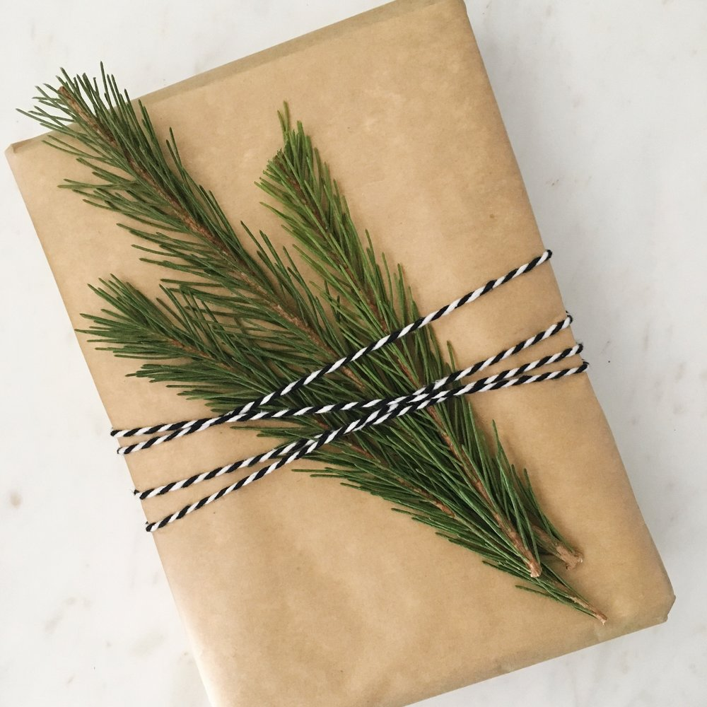 Present with Parchment Paper and Twine