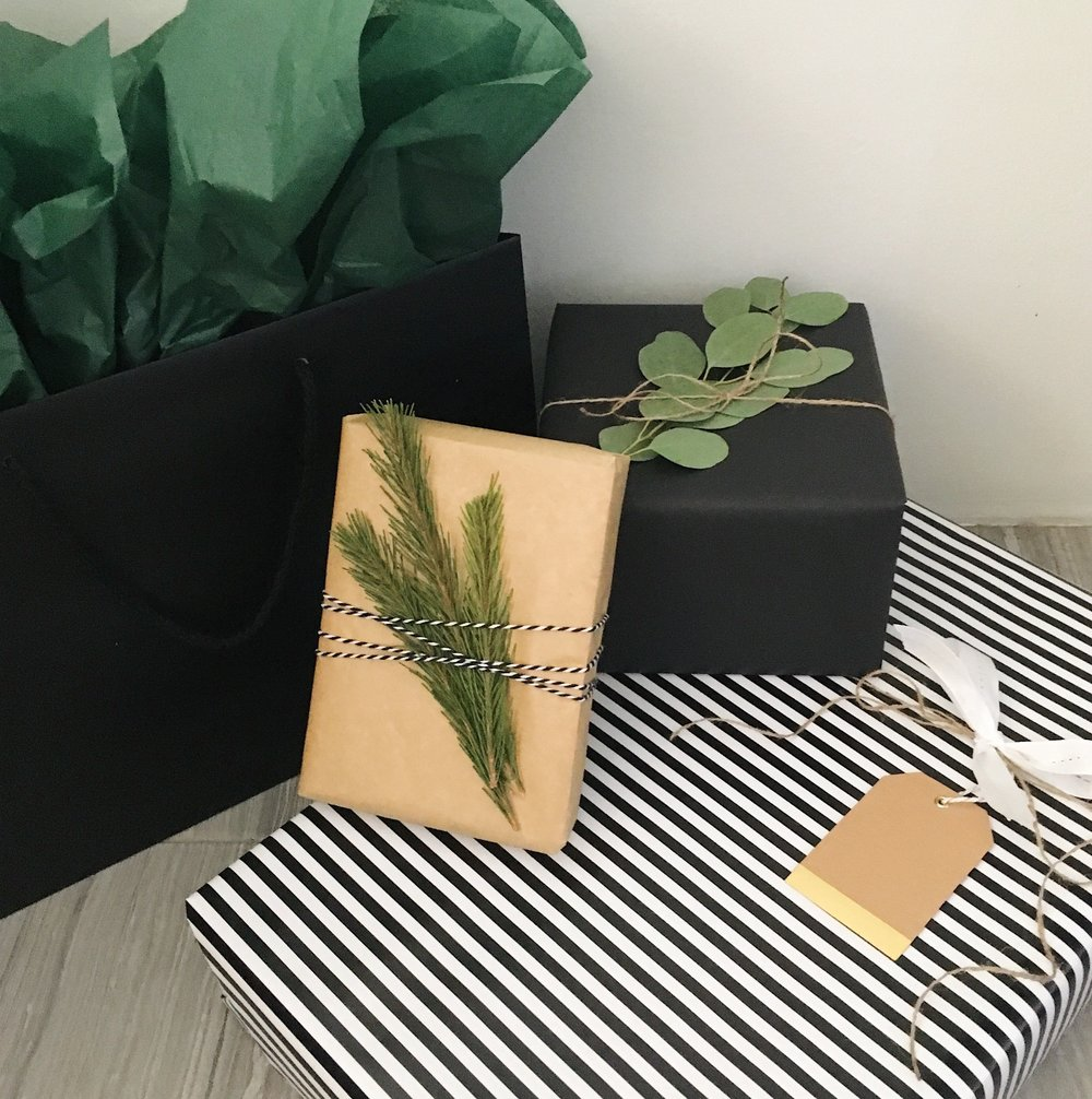 Neutral Christmas Wrapped Presents